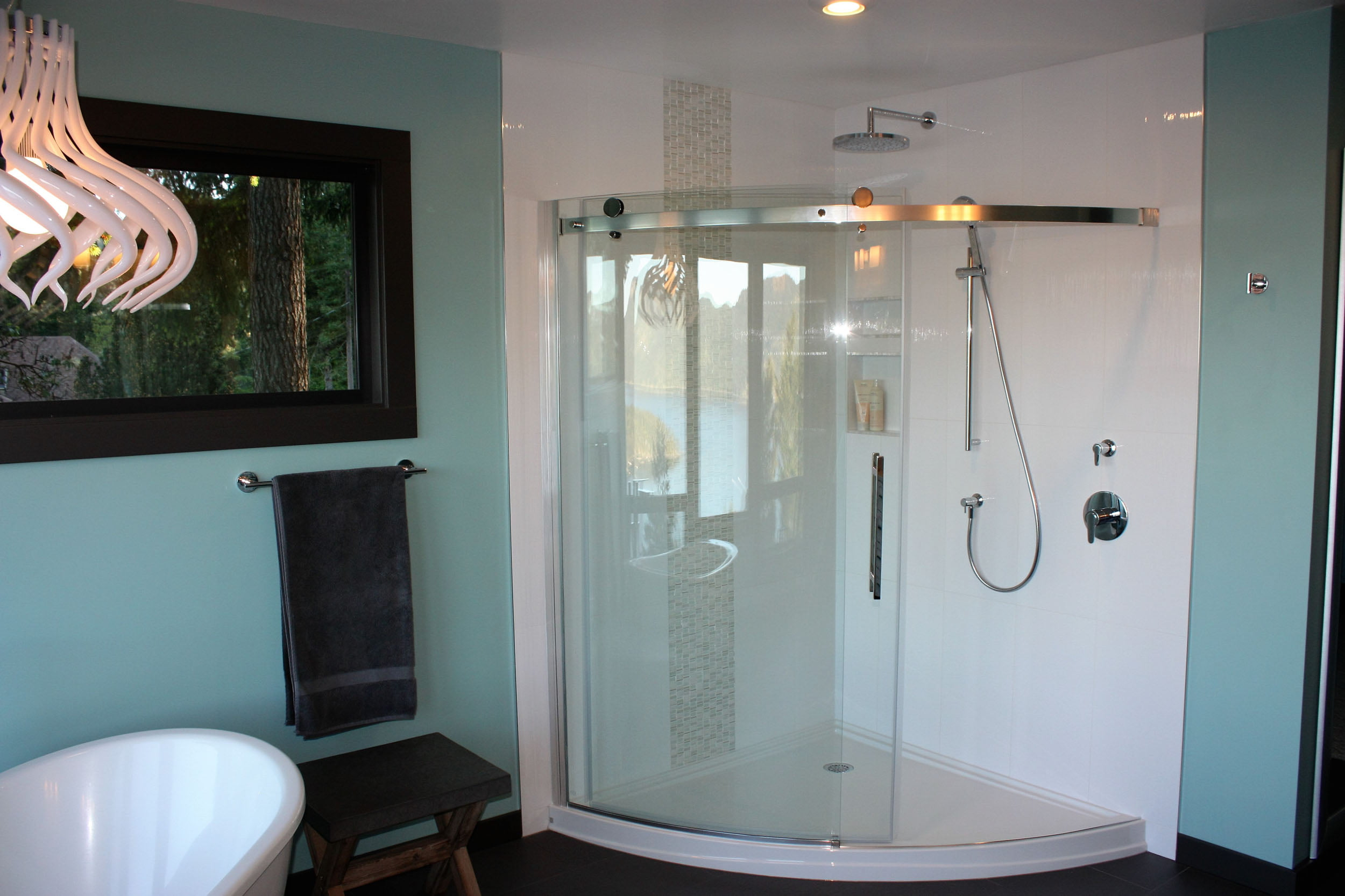 Curved Corner Shower